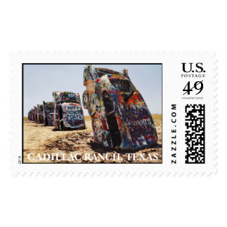 CADILLAC RANCH, TEXAS POSTAGE STAMP