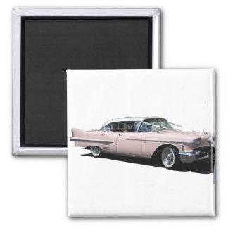Cadillac rosado imán para frigorifico