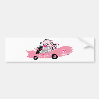Cadillac rosado pegatina para auto