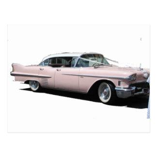 Cadillac rosado tarjetas postales