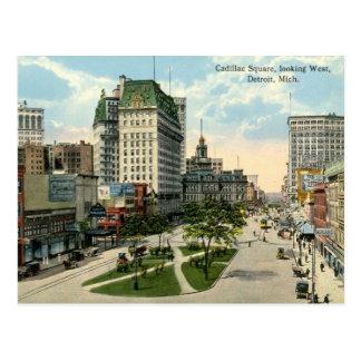 Cadillac Square, Detroit Michigan, 1915 Vintage Postcard