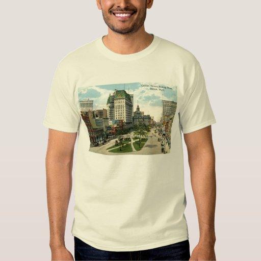 Cadillac Square Detroit Michigan 1915 Vintage T Shirt