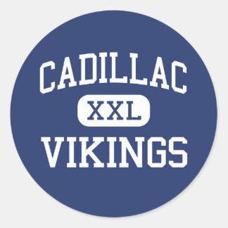 Cadillac Vikings Middle Cadillac Michigan Classic Round Sticker