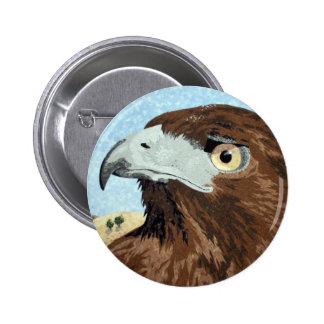 Cadir - halcón de la Rojo-cola Pin Redondo 5 Cm