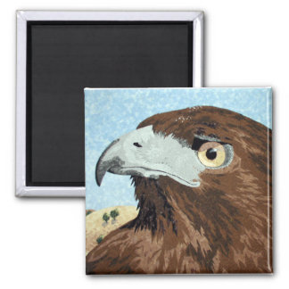 Cadir - Red-tail Hawk 2 Inch Square Magnet