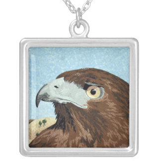 Cadir - Red-tail Hawk Square Pendant Necklace
