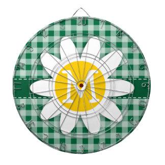 Cadmium Green Gingham; Checkered; Daisy Dartboard