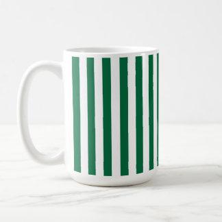 Cadmium Green Stripes; Striped Coffee Mug