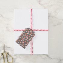 Cadmium Orange Brushstroke Polka Dots Pattern Gift Tags