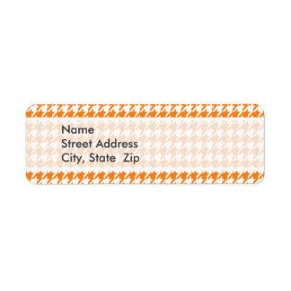 Cadmium Orange Houndstooth Label