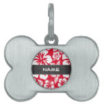 Cadmium Red Tropical Hibiscus; Chalkboard Pet Tags