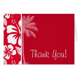 Cadmium Red Tropical Hibiscus; Palm Card
