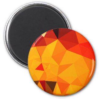 Cadmium Yellow Abstract Low Polygon Background 2 Inch Round Magnet