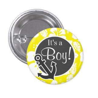 Cadmium Yellow Tropical Hibiscus Anchor Button