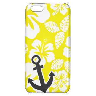 Cadmium Yellow Tropical Hibiscus; Anchor iPhone 5C Case