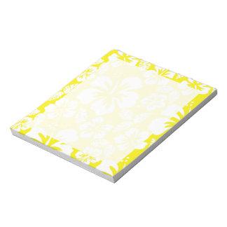 Cadmium Yellow Tropical Hibiscus Note Pad