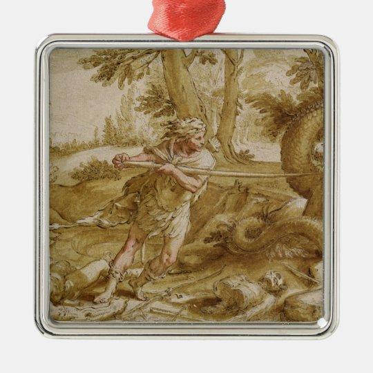 Cadmus about to attack a Dragon Metal Ornament