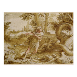 Cadmus about to attack a Dragon Postcard