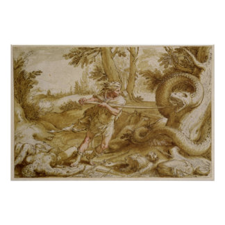 Cadmus about to attack a Dragon Poster