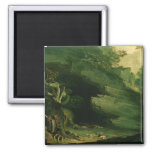 Cadmus and the Dragon 2 Inch Square Magnet