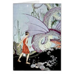 Cadmus and the Dragon from Tanglewood Tales Greeting Card