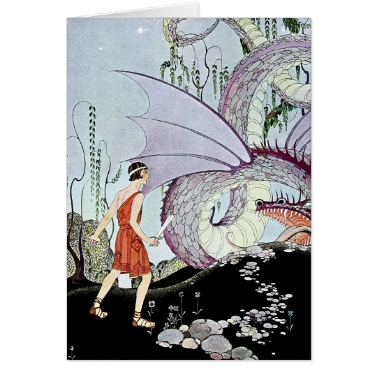 Cadmus and the Dragon from Tanglewood Tales Card