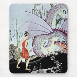 Cadmus and the Dragon from Tanglewood Tales Mouse Pads