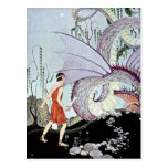 Cadmus and the Dragon from Tanglewood Tales Post Cards