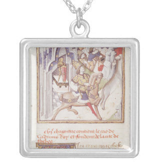 Cadmus, founder of Thebes Silver Plated Necklace
