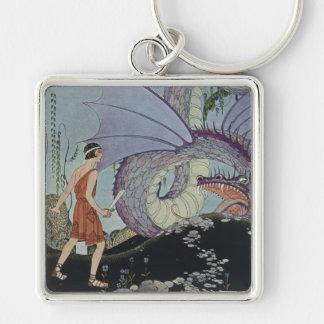 Cadmus y el dragón llavero personalizado