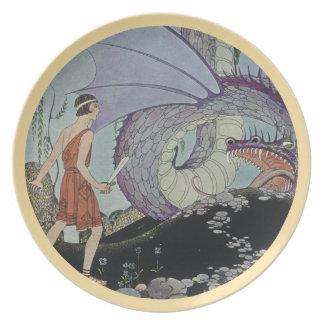 Cadmus y el dragón platos