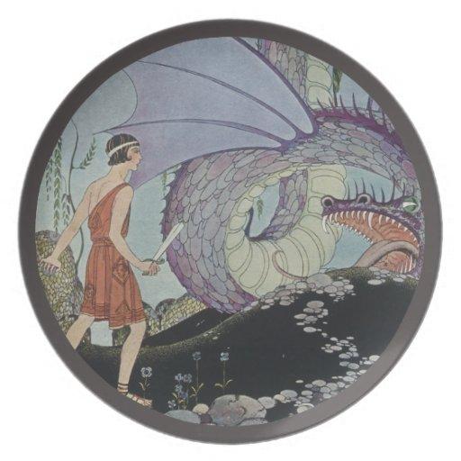 Cadmus y el dragón platos de comidas