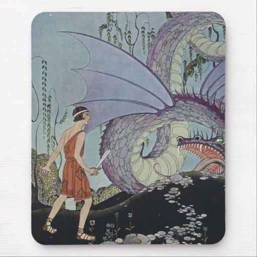 Cadmus y el dragón tapetes de raton