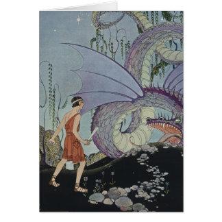 Cadmus y el dragón tarjeta de felicitación