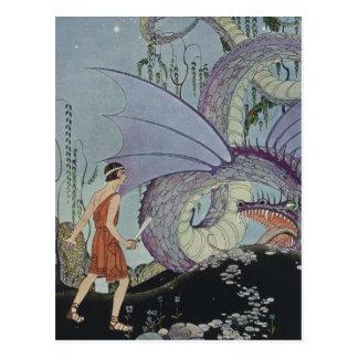 Cadmus y el dragón tarjeta postal
