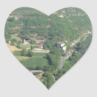 Cadrieu, France, The Aerial View Heart Sticker