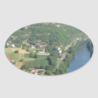 Cadrieu, France, The Aerial View Oval Sticker