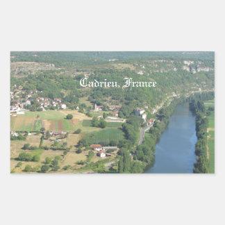 Cadrieu, France, The Aerial View Rectangular Sticker