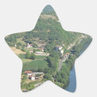 Cadrieu, France, The Aerial View Star Sticker