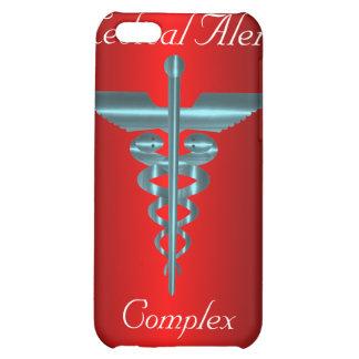 Caduceo alerta médico de Asclepius del símbolo de