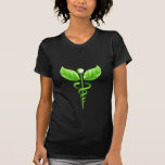 Caduceo: Camiseta de las señoras del símbolo de la