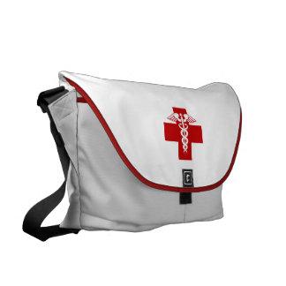Caduceo de la enfermera bolsa messenger