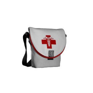 Caduceo de la enfermera bolsas de mensajeria