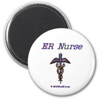 Caduceo de la enfermera del ER Imán Redondo 5 Cm