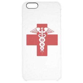 Caduceo de la enfermera funda clearly™ deflector para iPhone 6 plus de unc
