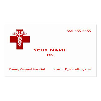 Caduceo de la enfermera tarjeta de visita