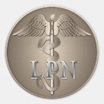 Caduceo de LPN Etiquetas