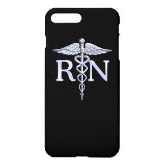 Caduceo de plata del RN de la enfermera Funda Para iPhone 7 Plus
