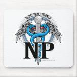 Caduceo del azul de NP Tapete De Ratón