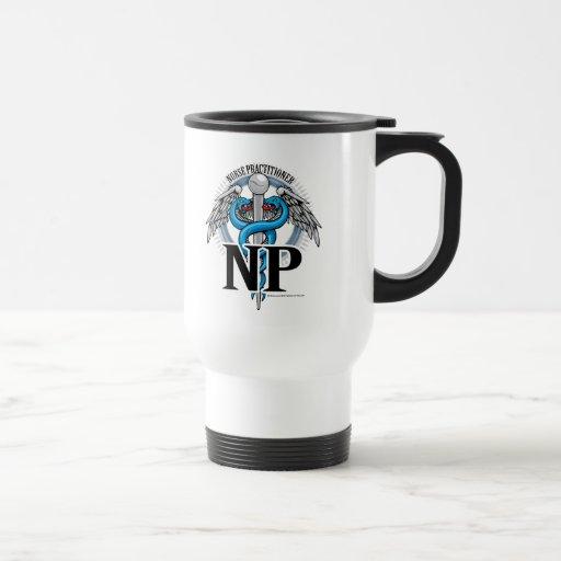 Caduceo del azul de NP Taza Térmica